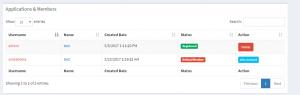 Grupları Yönet sayfasında başvurusu bulunan veya kayıtlı kullanıcıları görebilirsiniz.